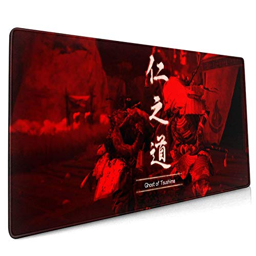 Gho-St of Tsu-Shi-Ma Mouse Pad 15.8x35.5 in Multipurpose Mousepad Desk Mat for Gamer Office Home (40x90cm)