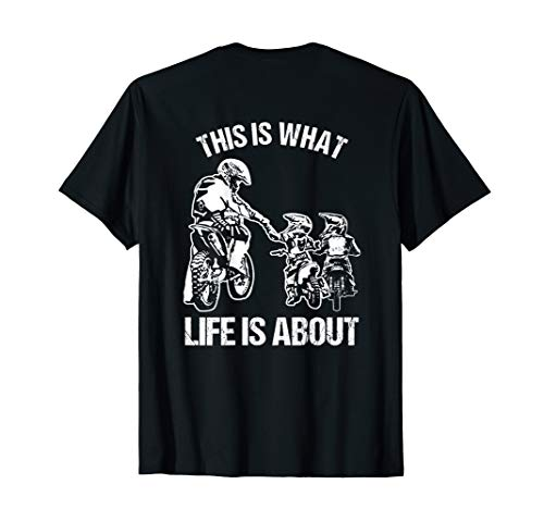 Dirt Bike Dad Motocross Motorrad FMX Biker Vater mit Kinder T-Shirt