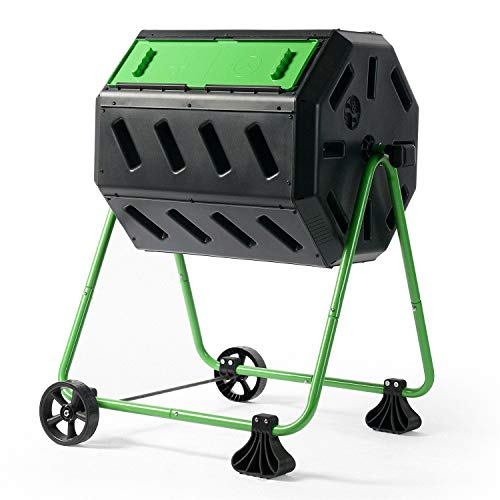 StarSun Depot Tumbler 5-Cubic Ft Compost Bin for Home Composting with Heavy Duty Frame