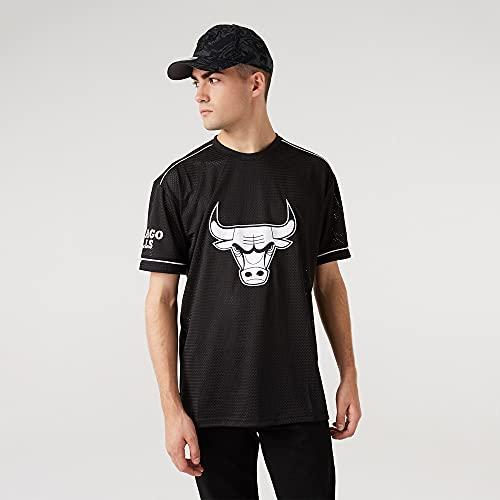 New Era NBA Chicago Bulls Oversized T-Shirt Herren schwarz/weiß, XXL