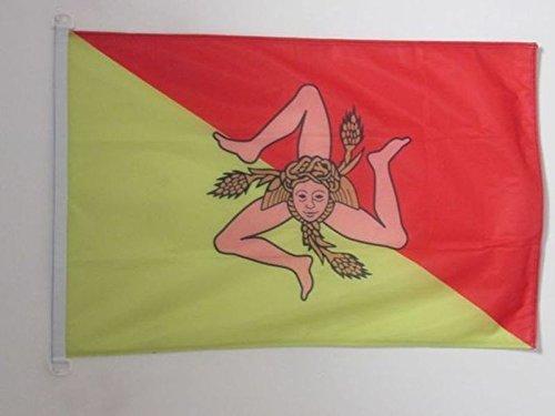 AZ FLAG Flagge SIZILIEN 90x60cm - SIZILIEN Fahne 60 x 90 cm Aussenverwendung - flaggen Top Qualität