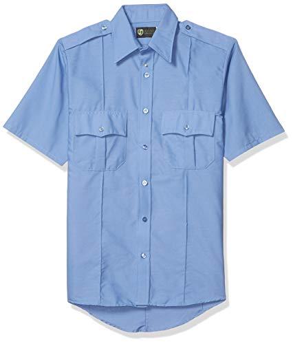 Horace Small Men's Professional Short Sleeve Security Shirt, Medium Blue, Large