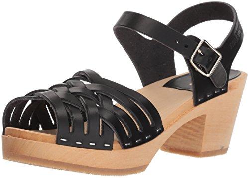 swedish hasbeens Women's Braided High Heeled Sandal, Black, 35 EU/5 M US