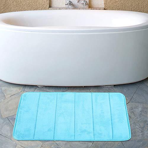 Bodenkissen Gut gefertigte Matten Schnelltrocknend Weich für die Küche(Light blue)