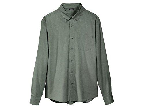 LIVERGY Herren Freizeithemd Leinenhemd Leinen Hemd Grün in verschiedenen Größen (L (41/42))