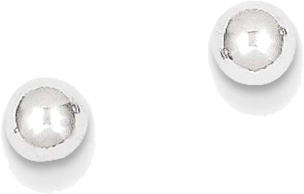14kt White Gold Polished 4mm Ball Post Earrings