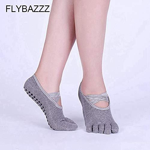 HATCHMATIC Socks Yoga Professionali per Le Donne con Good & amp; Non Slip Toeless Fasciatura Calzini per Il Balletto di Pilates Barre Fitness di Danza Calze: G-all