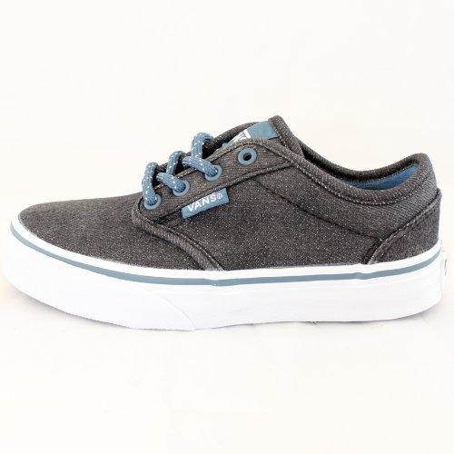 Vans , Chaussures de skateboard pour garçon multicouleur Black/Teal UK3/EUR35
