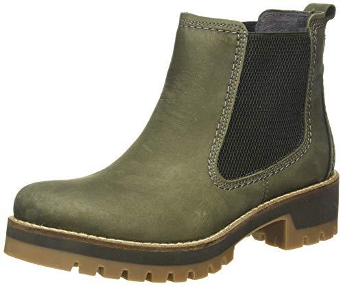 camel active Damen Diamond 72 Chelsea Boots, Grün (Olive 5), 39 EU