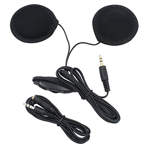 E-Bro 3.5mm Motorcycle Helmet Speaker Headphones with Volume Control + Extension Cable for MP3 GPS Excellent