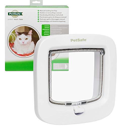 Petsafe - PPA19-16732 - Katzenklappe mit Handverriegelung; haltbare und einfach zu installierende Katzenklappe; von den Machern von Staywell, weiß