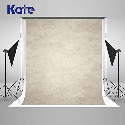 Kate 5×7ft(1.5×2.2m) Elfenbein Beige Porträt Hintergrund Abstrakte Fotografie Hintergrund Mikrofaser Foto Retro Hintergrund für Fotografen Stoff Studio Requisiten