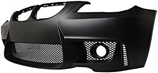 Front Bumper Cover Compatible With 2004-2010 BMW E60 5-series | 1M Style PP Black Added On Bodykits Body kit by IKON MOTORSPORTS | 2005 2006 2007 2008 2009