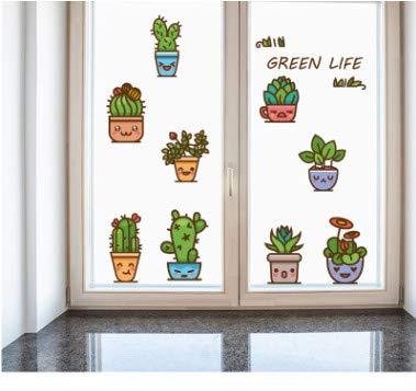 floolter Emoji Topf Cartoon Wandaufkleber Schlafzimmer Cartoon Treppenschrank Kühlschrank Hintergrund Dekoration abnehmbare 57 * 77cm