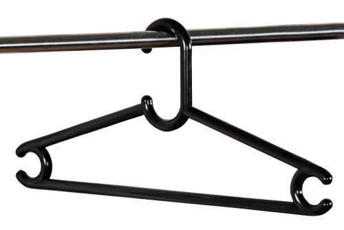 Kesper 3 Stück Garderobenbügel, Jackenbügel, Kleiderbügel, aus Kunststoff, Breite: 460 mm, in schwarz