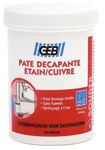 GEB 3283981003186 Pate décapant étain/cuivre/BRASAGE Tendre-Pot 150 ML, Gris, Ø 5,5/32 x 58 mm