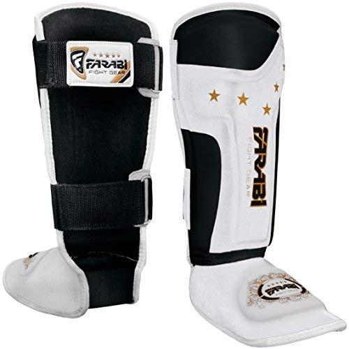 Farabi Sports Espinilleras para niños Junior Kickboxing, Muay Thai, MMA espinilleras para...