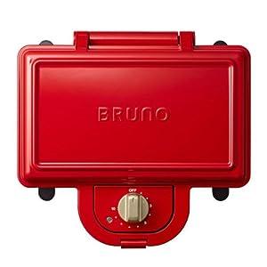 """ブルーノ BRUNO ホットサンドメーカー 耳まで焼ける 電気 ダブル レッド BOE044-RD"""""""