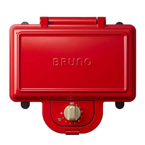 ブルーノ BRUNO ホットサンドメーカー 耳まで焼ける 電気 ダブル レッド BOE044-RD