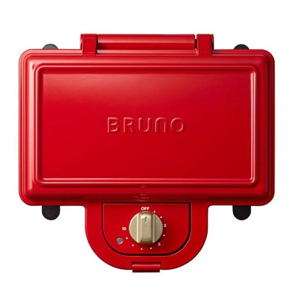 ところでリングロゴブルーノ BRUNO ホットサンドメーカー 耳まで焼ける 電気 ダブル レッド BOE044-RD
