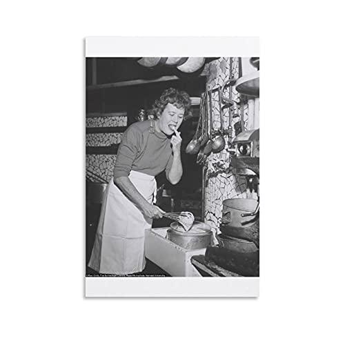 XXTUTXX Pôster Julia Child Cooking Master em tela, estética, sala de estar, decoração de parede 08 x 12 polegadas (20 x 30 cm)