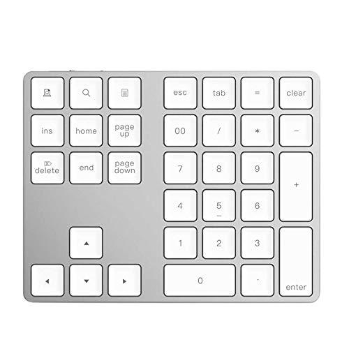 Fltaheroo Teclado NuméRico InaláMbrico 3.0 Teclado Digital de 34 Teclas para Accounting Teller Windows iOS OS Android PC Tablet Laptop (Blanco)