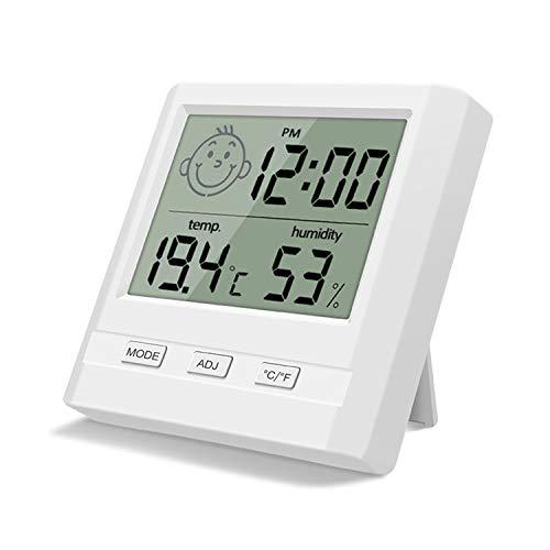 SANRF Termómetro Higrómetro de Interior, Medidor Temperatura Humedad Mini Termómetro Electrónica LCD higrotermómetro Digital, Profesional Medidor Termohigrómetro para Familia y Oficina