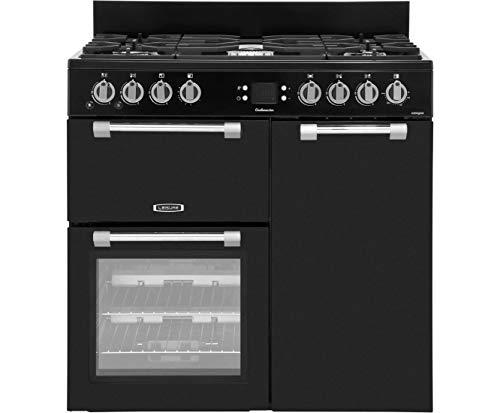 Leisure Cookmaster ck90g232–Cuisinière (autonome, moyen, électrique, gaz naturel, gaz, a +, noir)