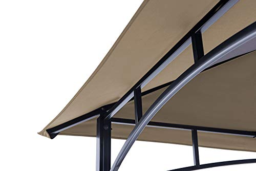 ABCCANOPY Grill Shelter Replacement Canopy Roof ONLY FIT for Gazebo Model L-GZ238PST-11 (Beige)