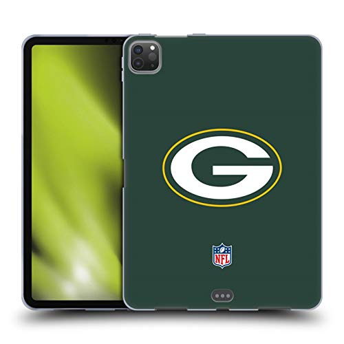 Head Case Designs Oficial NFL Claro Logo de Green Bay Packers Carcasa de Gel de Silicona Compatible con Apple iPad Pro 11 (2020)