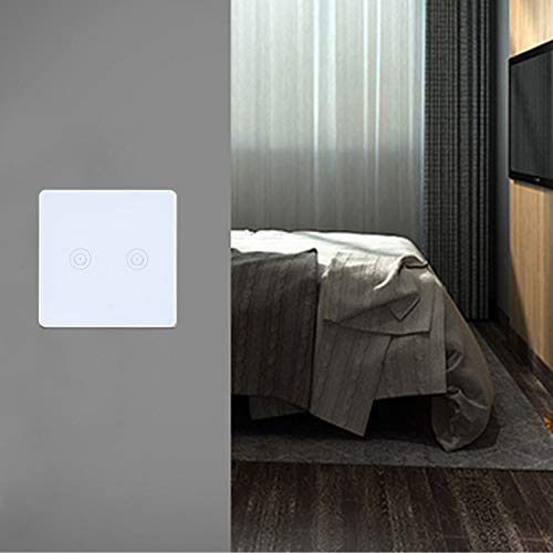 Lantuqib Interruptor de luz táctil, Interruptor de Pared de luz Interruptor Inteligente para una Vida Inteligente para lámparas de Pared para hogares Inteligentes