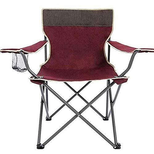 JJSFJH Outdoor Klappstuhl Strandhocker Einfache Angelstuhl Stuhl Tragbare Freizeit Stuhl Tuch Klappstuhl Rose Rot