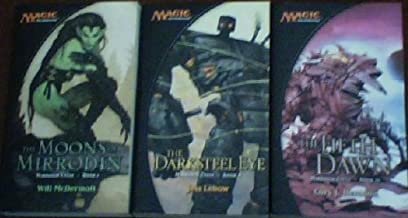 """Mirrodin Cycle Books 1,2,3 ~ COMPLETE 3 BOOK SET ~ """"The Moons of Mirrodin"""", """"The Darksteel Eye"""", """"The Fifth Dawn"""" (Magic the Gathering)"""