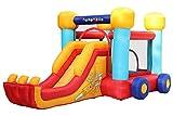 PLAY4FUN Château Gonflable pour Enfants 4,6m : Aire de Jeux Gonflable avec Toboggan Renforcé et Mur d'escalade - Souffleur et Sac de Rangement Inclus - L460 x P250 x H200 cm - Voiture Gonflable Bobby