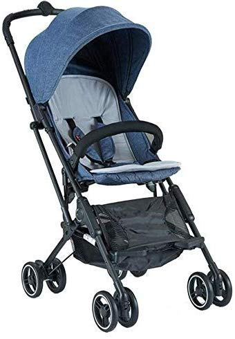 Fantastic Deal! Baby Stroller One-Click Folding Seated Horizontal Portable Folding 4 Wheel Shock Abs...