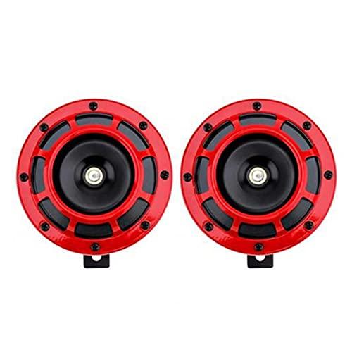PINGGUO BOOY-Store Ajuste para la Nueva bocina de automóvil Duradera 2 unids/Set 12v Car Auto Súper Ruidoso Tono de la Rejilla eléctrica Montaje Cuerno Compacto (Color : Red)