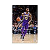 WETUO Lebron James 2018 Lakers Poster, dekoratives