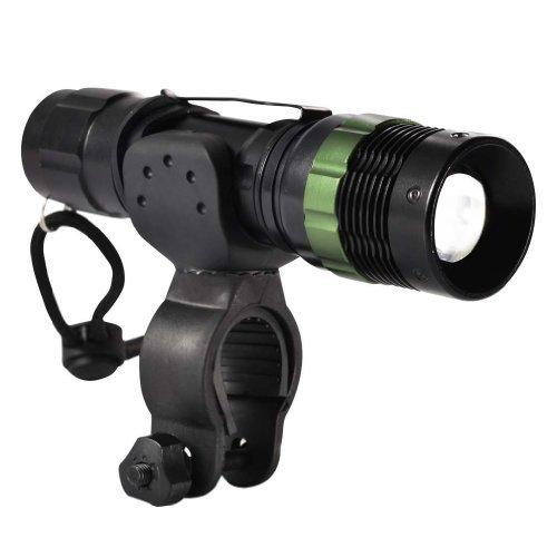 Canwelum - Luces para bicicletas LED Cree recargable, faro LED super-brillante, luz MTB LED potente (Un juego completo de linterna zoom, batería litio 18650, cargador Euro y abrazadera del manillar bicicleta)
