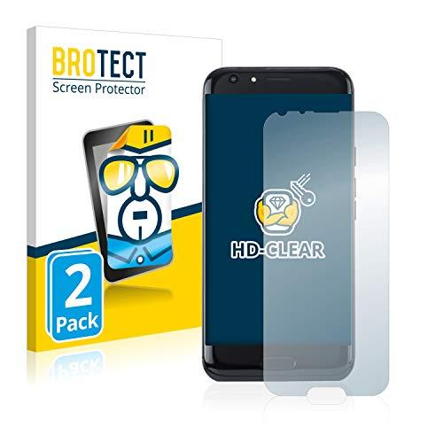 BROTECT Schutzfolie kompatibel mit Doogee BL5000 (2 Stück) klare Bildschirmschutz-Folie