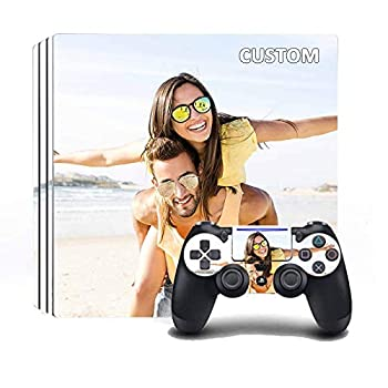 Custom PS4 Pro with Your Picture and Create Your Own Design,Custom Playstation 4 Pro Controller and Console Skin
