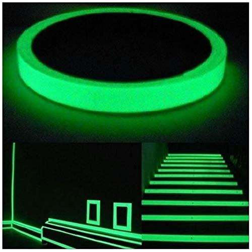 Sierstrips nacht oplichtend 10 m folie zelfklevend oplichtend plakband lichtfolie fluorescerend sterke helderheid 7mm Breite