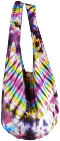 BTP! Tie Dye Sling Crossbody Shoulder Bag Purse Hippie Bohemian Fishbone VA3