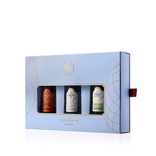 The Lakes - 3 x 5cl Gift Pack Classic, Pink Grapefruit & Elderflower - Whisky