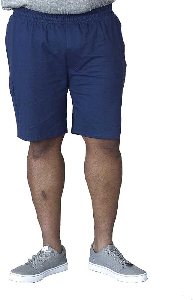 D555 Mens John King Size Cotton Cargo Shorts