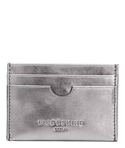 Liebeskind Berlin Basic Ara Cardholder, Porta Tessere. Donna, Silver Lead/9626, Small
