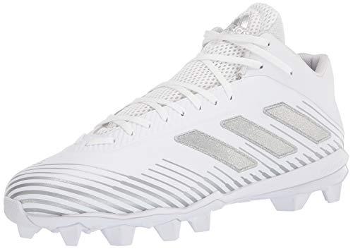 adidas Men's Freak Mid 20 Football Shoe, White/Silver Metallic/White, 11