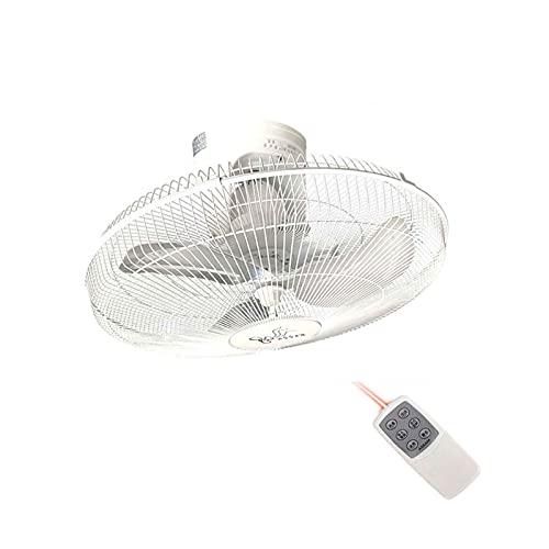 """Ventilador de Techo de 20""""Ventilador de Pared oscilante de 360° 3 aspas de Ventilador de Metal Grandes para la Industria Comercial doméstica, 90W, Blanco(Color:Control Remoto)"""