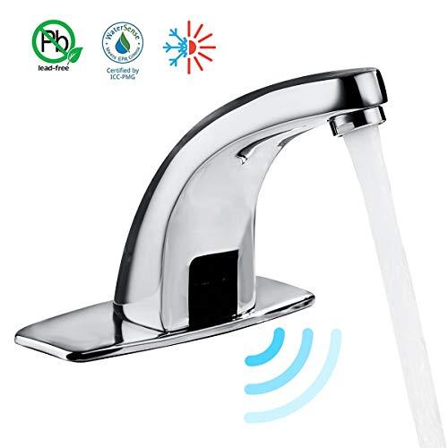 Gimify Grifo Automático Del Sensor Grifo de Agua Fría Caliente Grifo Del Lavabo Del Baño con Válvula de Ajuste de Temperatura