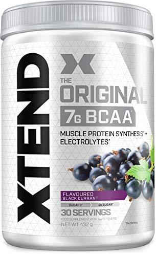 XTEND Original - Suplemento de BCAA en polvo - Grosella Negra | Aminoácidos de cadena ramificada | 7 g de BCAA con electrolitos para una mayor hidratación y recuperación | 30 raciones