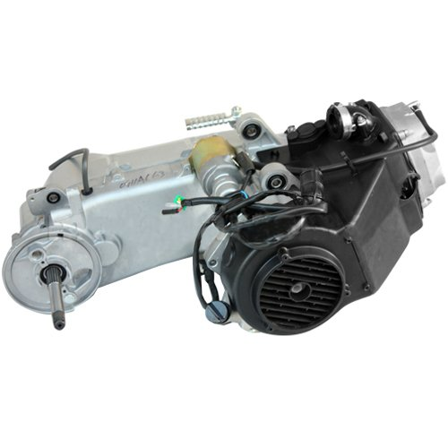 X-PRO Short Case 150cc 4-stroke GY6 Engine w/CVT Transmission Electric Starter Air Cooled for 150cc Full Size ATVs Go Karts (silver)